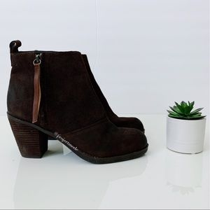 Dolce Vita Brown Suede Ankle Booties- 8.5